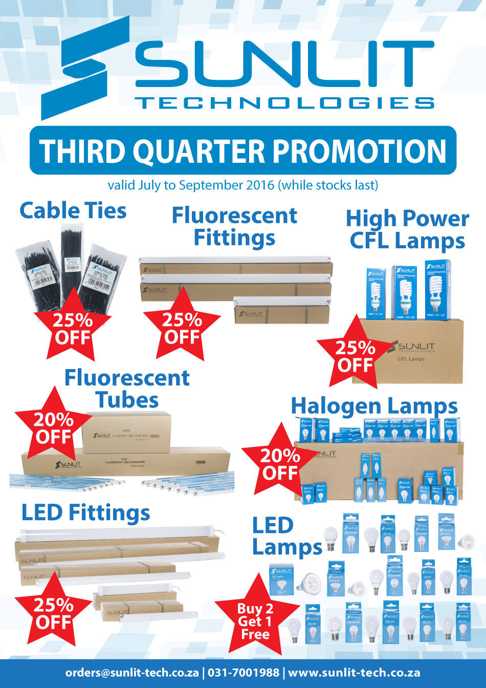 Sunlit-Technologies - third quarter promotion